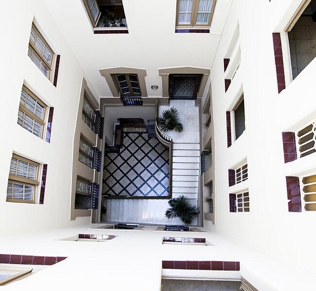 Instalaciones de la residencia universitaria en Barcelona